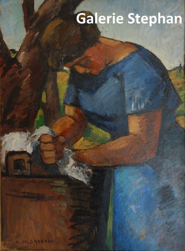 La blanchisseuse - Georges Hanna Sabbagh