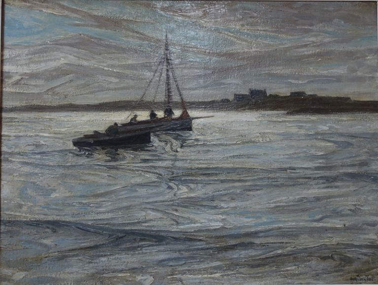 auguste Matisse - Au large de Bréhat - galerie Stephan Expertise